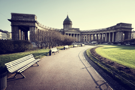 kazanskiy: Kazan Cathedral in sunset time, St. Petersburg, Russia