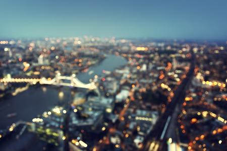 bokeh of London aerial view with Tower Bridge, UK photo