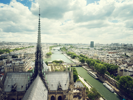 dame: Paris from Notre Dame, France Stock Photo