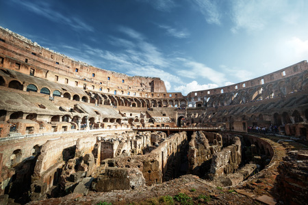emporium: inside of Colosseum in Rome, Italy