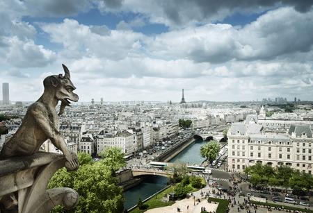 Gargoyle on Notre Dame Cathedral, Paris, France Stock Photo - 40975225