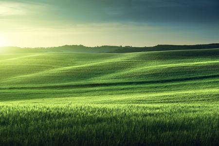 トスカーナの夕日、イタリア 写真素材 - 40975427