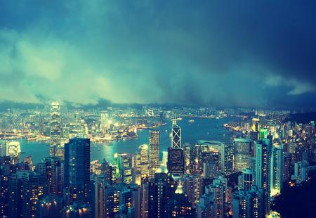 Hong Kong island from Victorias Peak