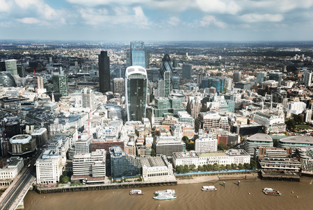 london city: City of London and sunny day Stock Photo