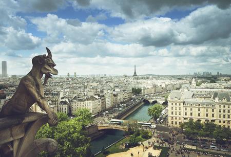 Gargoyle on Notre Dame Cathedral, Paris, France Stock Photo