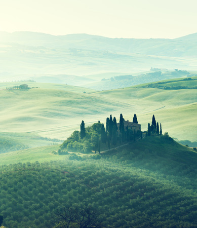 agriturismo: Early spring morning in Tuscany, Italy