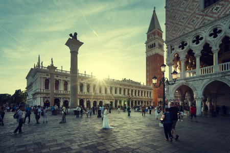 venice italy: San Marco in sunset time, Venice, Italy Editorial