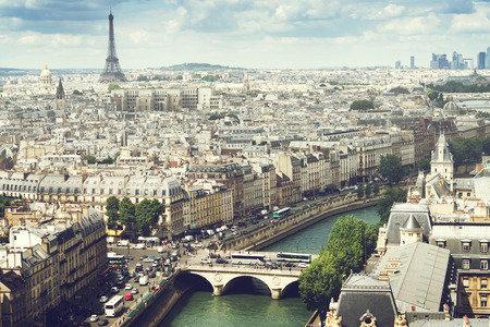 パリ, フランスのビュー 写真素材