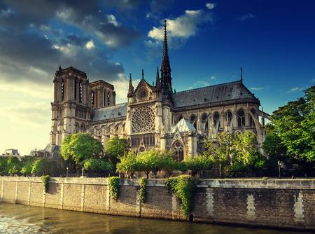 ノートルダム大聖堂パリ、フランス 報道画像
