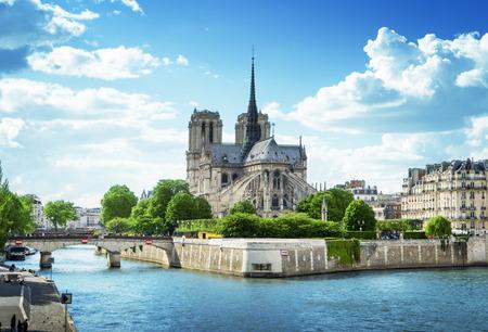 ノートルダム大聖堂パリ、フランス 写真素材