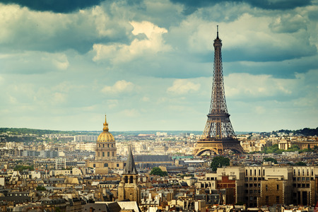 View on Eiffel Tower, Paris, France Stock Photo - 42409981
