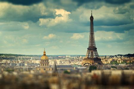 tilt: Eiffel Tower (tilt shift effect), Paris, France