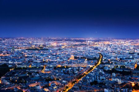 paris france: Panorama of Paris, France Stock Photo