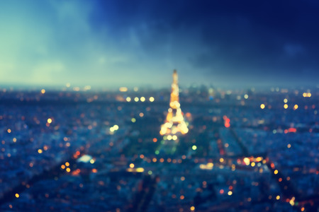 paris france: bokeh in Paris, France,