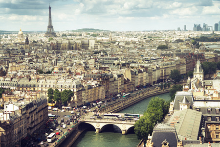 パリ, フランスのビュー 報道画像