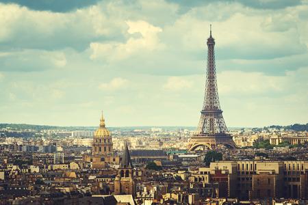 Vue sur la Tour Eiffel, Paris, France Banque d'images - 43161645