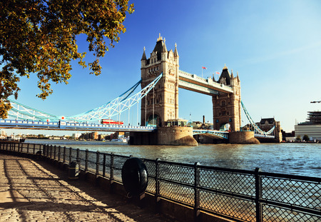 london skyline: Tower Bridge in London, UK