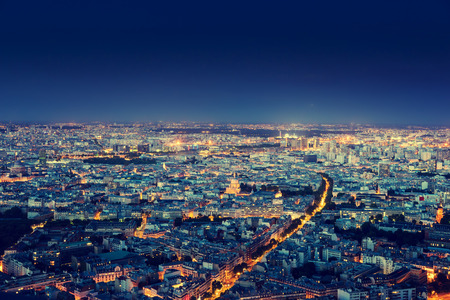 Panorama of Paris, France Stock Photo