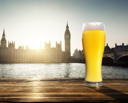 unfiltered: fresh  unfiltered beer and Westminster, London, UK