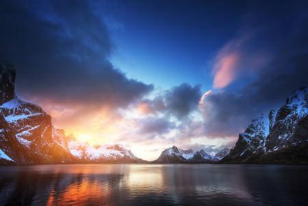、ノルウェーのロフォーテン諸島 写真素材