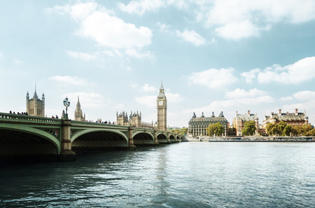 sunny day: Big Ben in sunny day, London