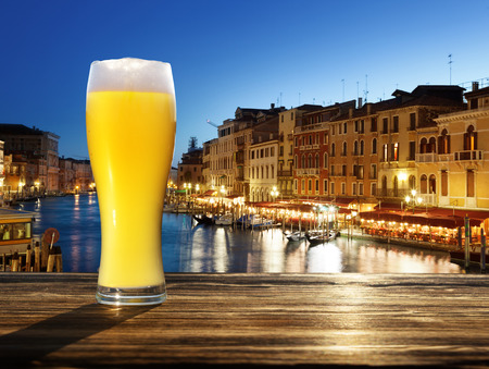 unfiltered: fresh  unfiltered beer in Venice, Italy