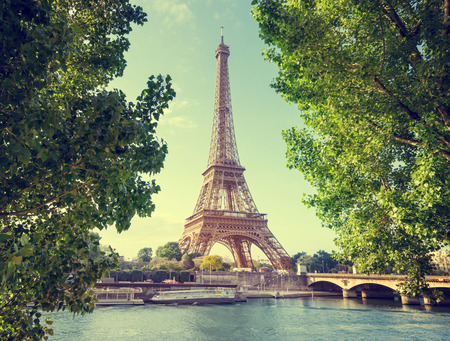 water tower: Eiffel tower, Paris. France Stock Photo
