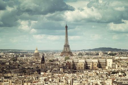 Vue sur la Tour Eiffel, Paris, France Banque d'images - 44567564