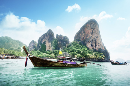 thailand: Railay beach in Krabi Thailand Stock Photo