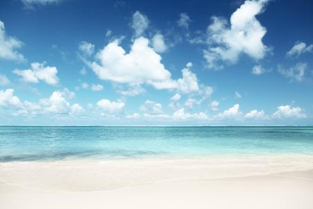 Sable de plage Caraïbes mer  Banque d'images - 46411529
