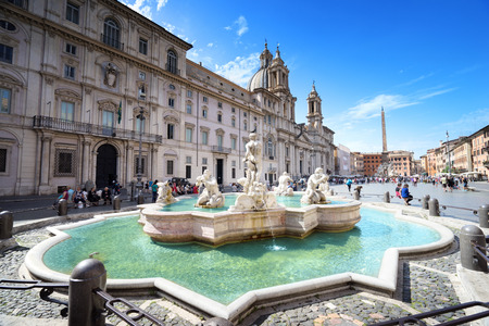 Piazza Navona, Rome. Italy Standard-Bild