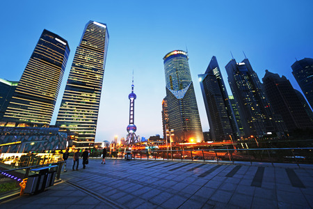 Pudong financial district Shanghai, China Stock Photo