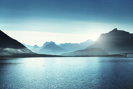 lofoten: mountains, Lofoten islands, Norway