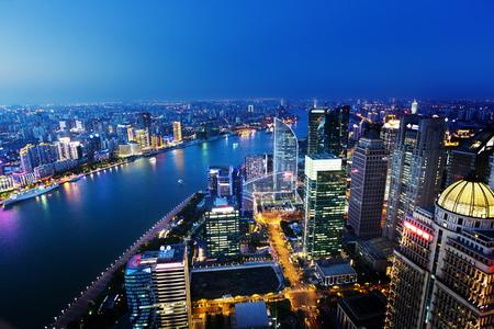 Shanghai night view, China Foto de archivo
