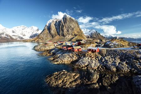 fishing hut: Fishing hut at spring - Reine, Lofoten islands, Norway