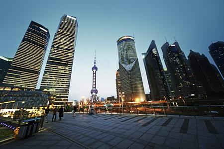 china: Pudong financial district Shanghai, China Editorial