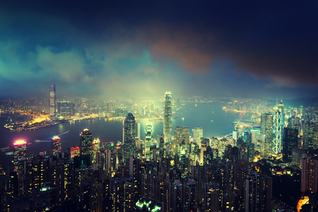 harbour: Hong kong from the Victoria peak