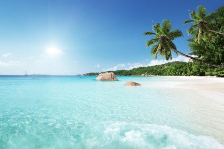 Anse Lazio beach at Praslin island, Seychelles Reklamní fotografie - 48672462