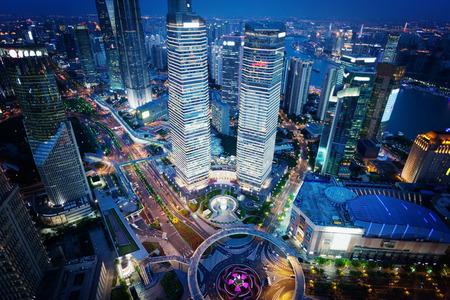 nightfall: Shanghai night view, China Stock Photo