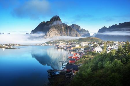 Reine Village, Lofoten eilanden, Noorwegen Stockfoto