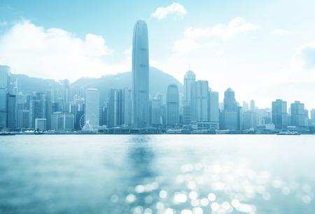 hong kong harbour: Hong Kong harbour at sunny day, tilt shift bokeh