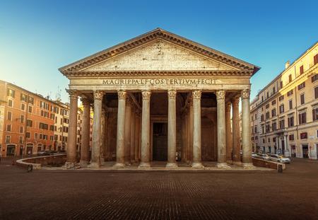 Pantheon in Rome, Italië Stockfoto