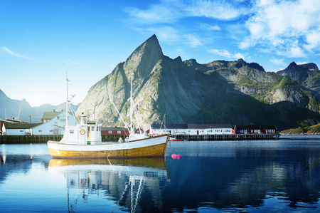 rorbuer: sunset - Reine, Lofoten islands, Norway