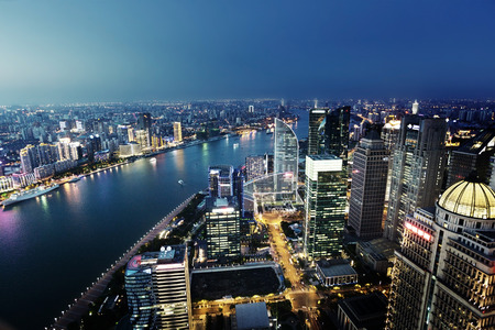 Shanghai night view, China 写真素材