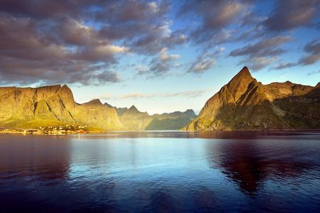 lofoten: sunset in Lofoten islands, Norway
