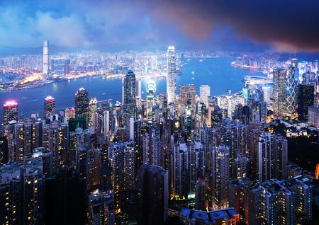 hong kong city: Hong kong from the Victoria peak