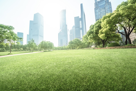 green office: park in lujiazui financial centre, Shanghai, China