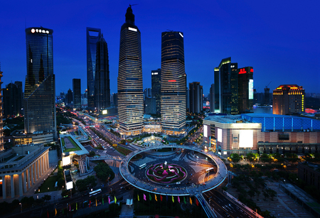 shanghai night: Shanghai night view, China Stock Photo