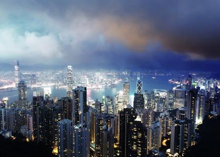 hong kong night: Hong kong from the Victoria peak