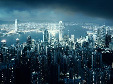 hong: Hong kong from the Victoria peak